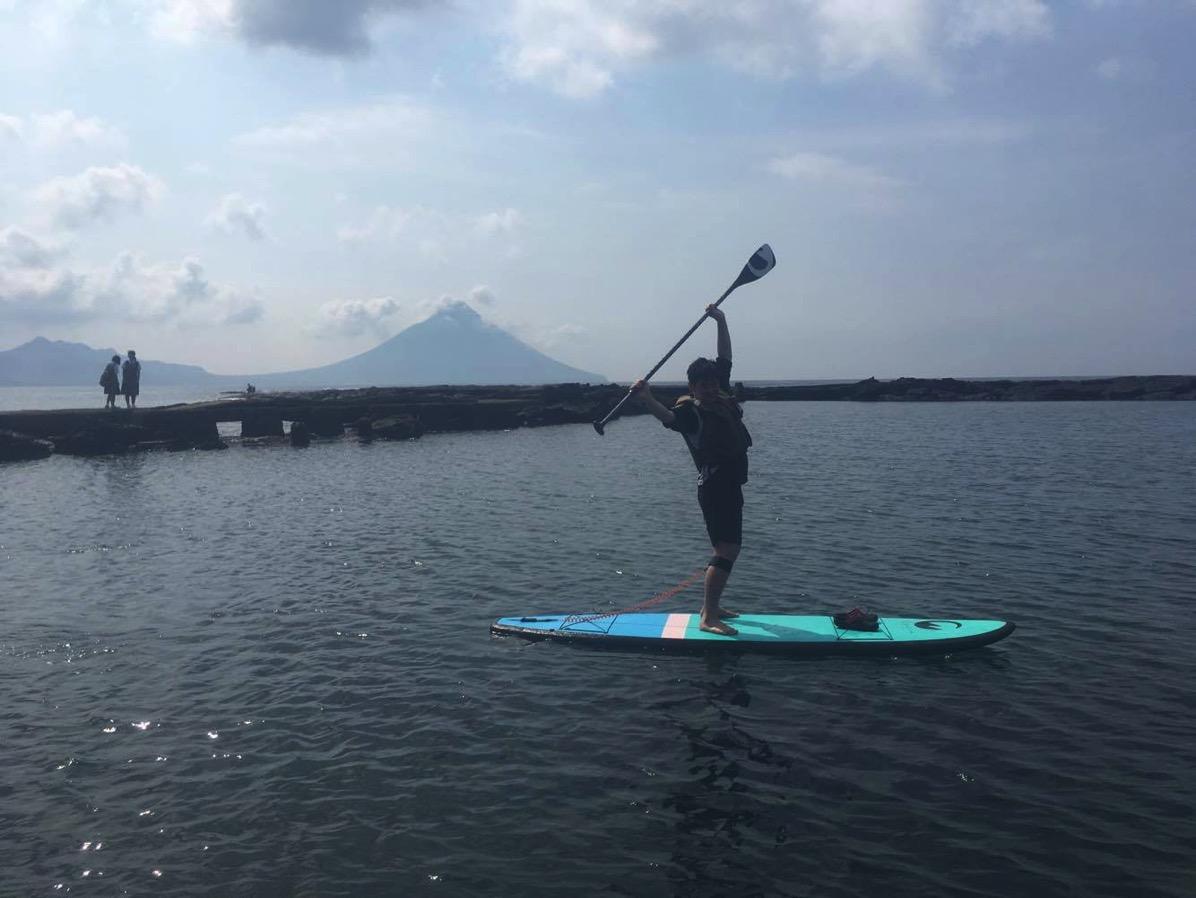 【リア充への道】流行りのマリンスポーツSUPを開聞岳を眺めながら南九州市頴娃で楽しんできた