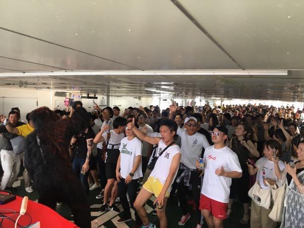 【ハイパニ2018】鹿児島のパリピは船の上から桜島の噴火を眺めて盛り上がる!