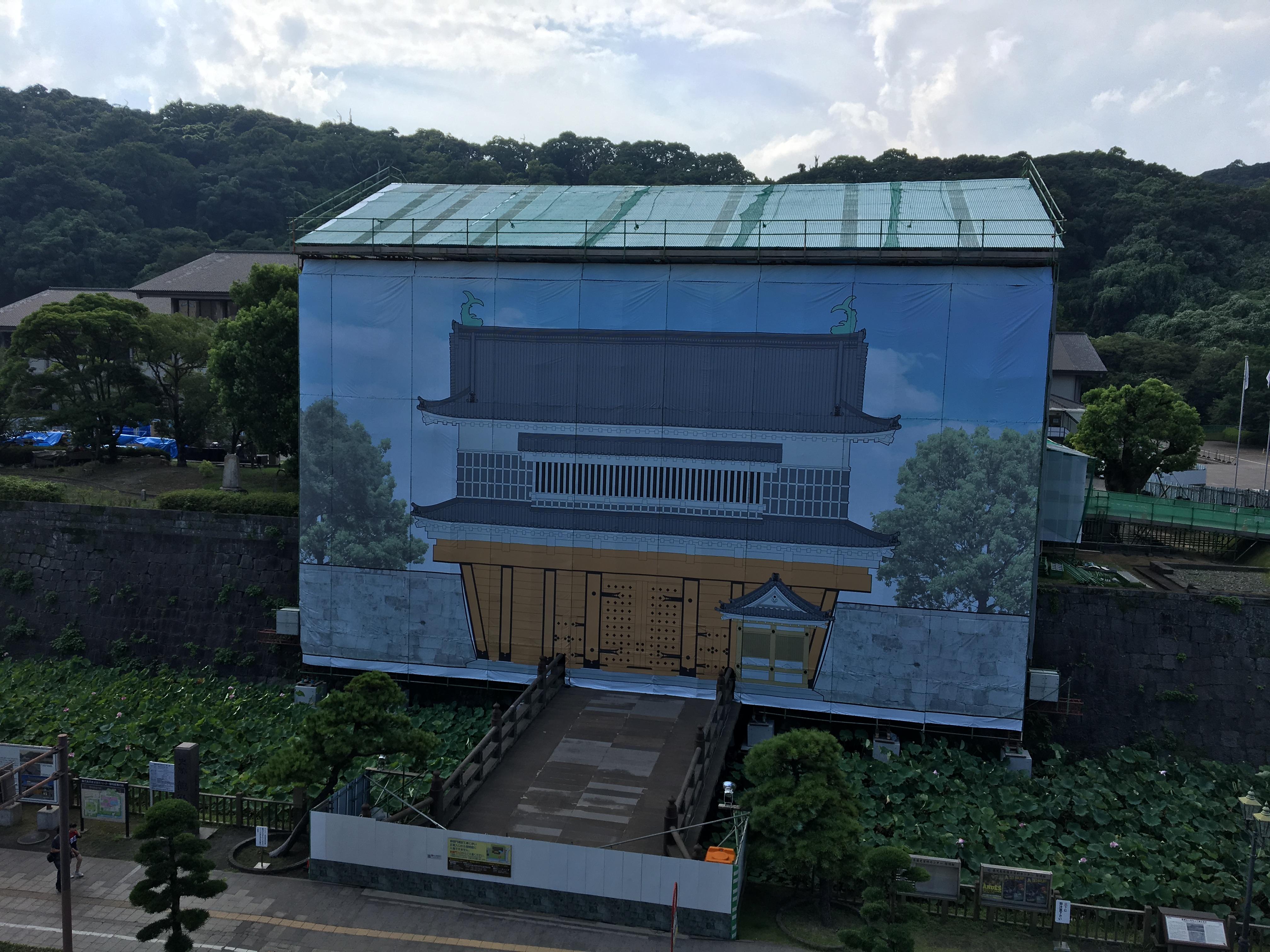 【鹿児島】鶴丸城御楼門の工事現場見学がめっちゃ面白かった!