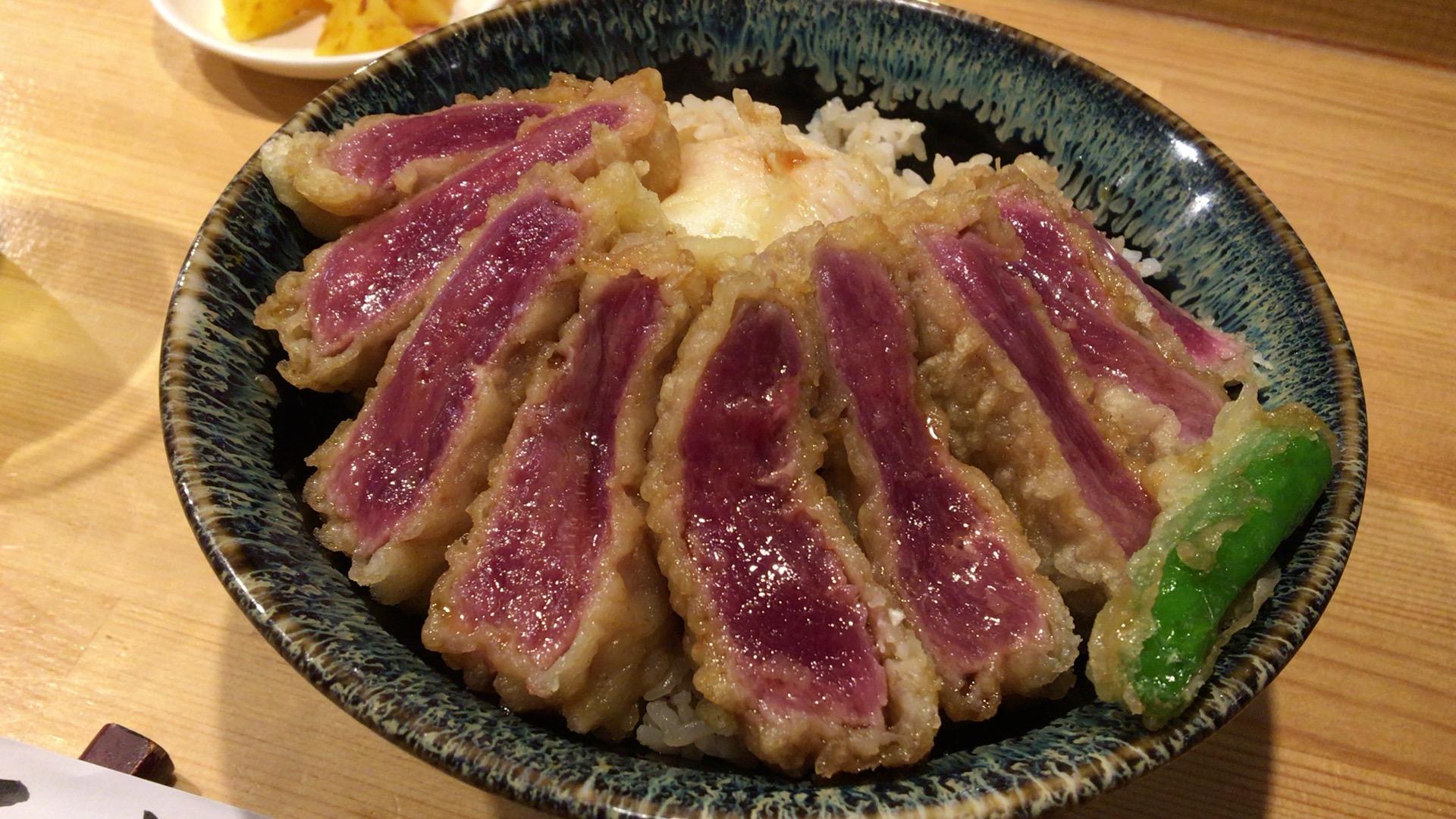 天丼一心のサーロイン天丼は噛めば噛むほどマーベラス!!!