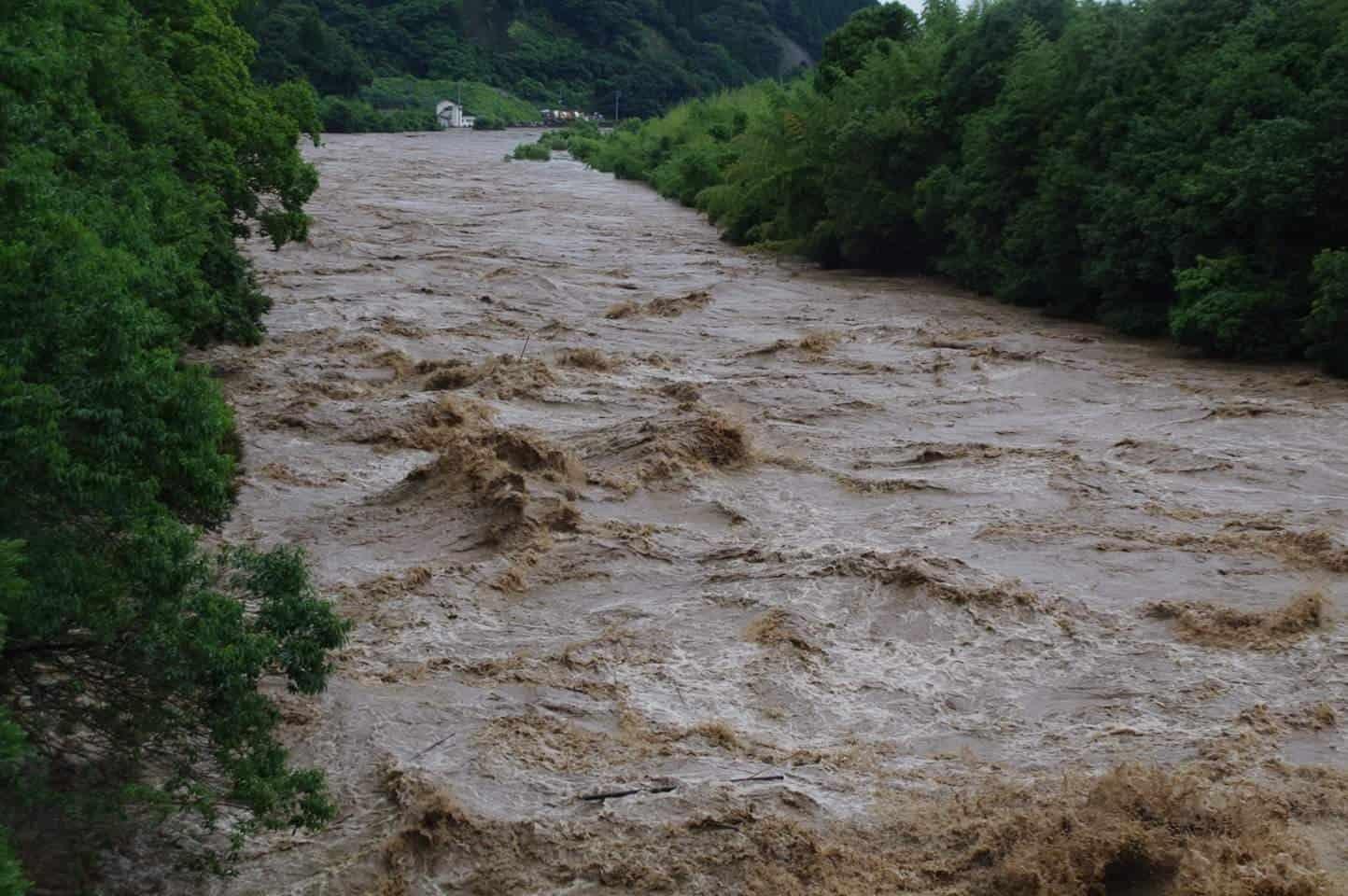 2020年7月4〜5日にかけての鹿児島県内大雨の様子
