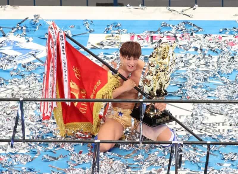新日本G1・飯伏が史上3人目連覇!SANADAと死闘35分、ジェイが対戦要求